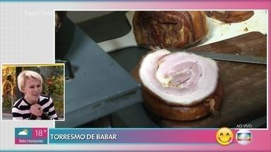 Torresmo de rolo faz sucesso em São Caetano - Mari Palma com Valter para saber como a iguaria é preparada