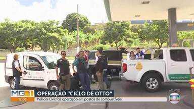 Polícia Civil realiza operação em postos de combustíveis de Contagem, na Grande BH - Objetivo é fiscalizar crimes contra a ordem tributária e as relações de consumo.