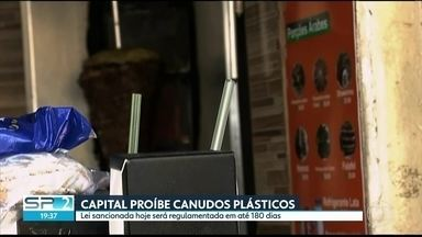 Prefeito sanciona lei que proíbe os canudos de plásticos em SP - Lei vai ao encontro de outras iniciativas para reduzir o uso de plásticos.