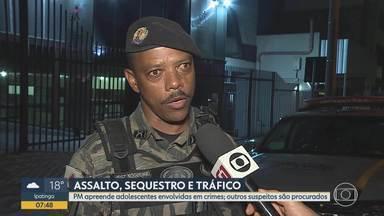 Adolescentes são apreendidas suspeitas de envolvimento com tráfico em Belo Horizonte - Polícia Militar está à procura de outros suspeitos.