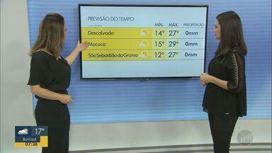 Confira a previsão do tempo para as regiões de Campinas, Ribeirão Preto e Central - Regiões seguem sem previsão de chuva nesta quarta-feira (26).