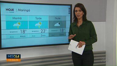 Massa de ar frio muda o tempo em Maringá - Confira a previsão do tempo para os próximos dias na região.