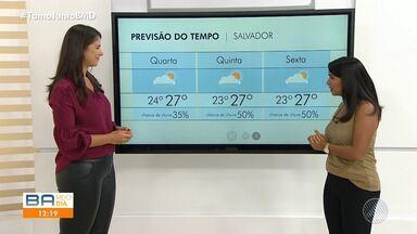 Previsão do tempo: Salvador pode ter chuva no começo da manhã de quinta-feira - Céu fica coberto de nuvens pelo menos até o fim de semana.
