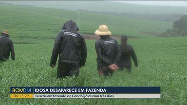 Idosa desaparece na área rural de Candói - Familiares, policiais e bombeiros fazem buscas desde o começo da semana.