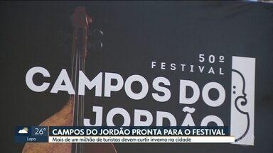 Vai começar mais um Festival de Inverno em Campos do Jordão - Cidade está pronta para receber 1,5 milhão de turistas durante a estação mais fria do ano. Novidade é que, além de música clássica, festival também vai ter apresentações de música popular.