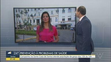 Santa Casa de Santos promove atendimentos e testes gratuito à população - Iniciativa acontece em celebração ao Dia do Hospital e da padroeira das santas casas, Santa Isabel.