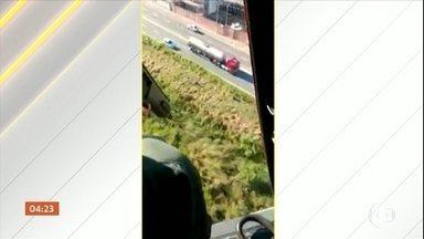 Bandido é preso após atravessar seis municípios durante perseguição policial em SP - Criminoso tinha roubado caminhão-tanque.