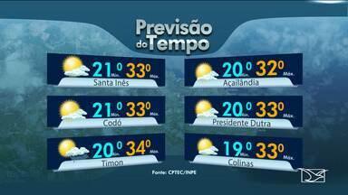 Veja as variações das temperaturas no Maranhão - Confira a previsão do tempo nesta quarta-feira (3) em São Luís e também no interior do estado.
