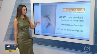 MG tem 98 mortes confirmadas por causa da dengue, diz SES - Nesta quarta-feira (3), a Cruz Vermelha realiza em Brumadinho uma ação de combate à dengue e outras doenças transmitidas pelo Aedes aegypti.