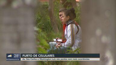 Em média dois celulares são furtados por dia em São Carlos - Avenida São Carlos e Washington Luís são os pontos com mais ocorrências.