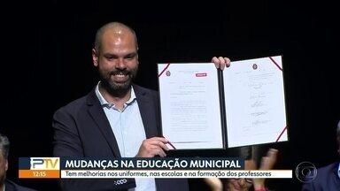 Prefeitura anuncia série de medidas para melhorar a qualidade do ensino municipal - Algumas novidades já começam a valer este anos. Entre elas, o índice de desenvolvimento da educação paulistana.