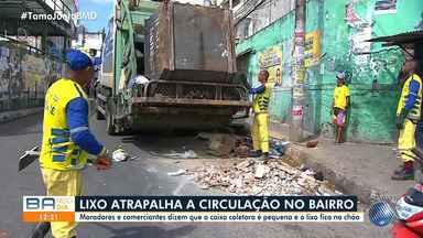 Moradores do Curuzu reclamam de falhas no serviço de coleta de lixo - Eles afirmam que a caixa coletora é insuficiente para atender a comunidade.