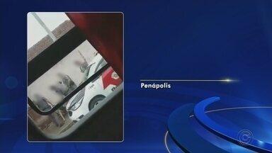 PM instaura inquérito para apurar conduta de policiais que agrediram homem em Penápolis - A Polícia Militar instaurou um inquérito para apurar a conduta de quatro policiais flagrados agredindo um homem nas proximidades de um bar, no bairro Jardim Eldorado, em Penápolis (SP). Um vídeo gravado por um telefone celular mostra as agressões.