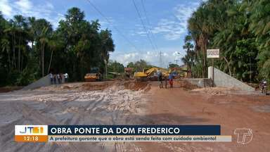Construção de obras de pontes sobre mananciais em Santarém podem impactar igarapés - Prefeitura garante que obras são feitas respeitando o meio ambiente.
