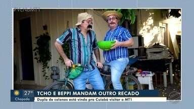 Dupla de colonos está vindo pra Cuiabá visitar o MT1 - Dupla de colonos está vindo pra Cuiabá visitar o MT1.
