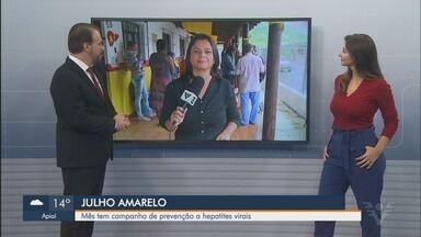 Julho Amarelo tem campanha de prevenção a hepatites virais - Iniciativa busca ajudar população a evitar doença.