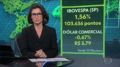 Bolsa de Valores de São Paulo sobe mais de 1,5% com aprovações do relatório da Previdência - Dólar comercial fecha abaixo de R$ 3,80 pela primeira vez desde março.