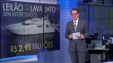 Justiça do Rio começa a leiloar bens de presos e condenados por corrupção na Lava Jato - De dez bens leiloados, apenas dois foram arrematados: um barco pequeno e uma moto aquática