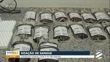 Manhã movimentada na 1ª campanha de doação de sangue de 2019 em Corumbá - Saiba quem pode fazer a doação de sangue em Corumbá.