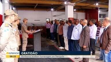 Bombeiros recebem homenagem em Petrópolis - Assista a seguir.
