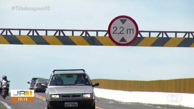 Novos limitadores de altura são instalados na ponte de Porto Nacional - Novos limitadores de altura são instalados na ponte de Porto Nacional