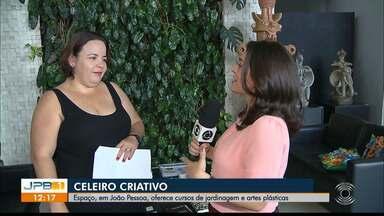 Espaço, em João Pessoa, oferece cursos de jardinagem e artes plásticas - Os cursos estão sendo ofertados no Celeiro Criativo.