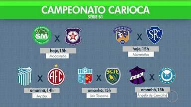 Confira os jogos da rodada de série B1 do Carioca - Assista a seguir.