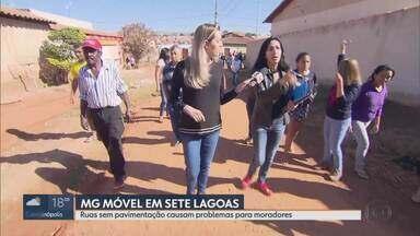 MG Móvel acompanha reivindicação de moradores de Sete Lagoas - Moradores do bairro Verde Vale esperam há anos por obras de pavimentação. Eles dizem que a verba já foi liberada, mas as obras não saem do papel.