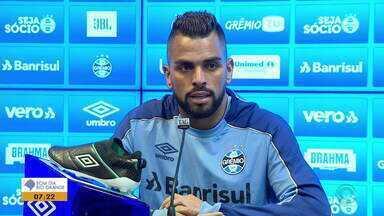 Capitão Maicon fala sobre reencontro do Grêmio com ex-técnico - Confira o comentário.