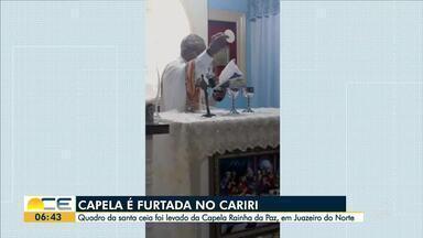 Capela é furtada em Juazeiro do Norte - Saiba mais em g1.com.br/ce