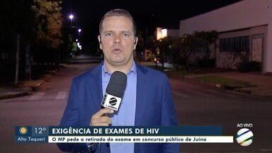MP pede retirada de exame de HIV como exigência de concurso público em Juína - MP pede retirada de exame de HIV como exigência de concurso público em Juína