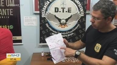 Polícia prende suspeito de tráfico e apreende lista com contabilidade de facção criminosa - DTE atuou na Zona Norte de Macapá.