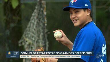 Jovem de 16 anos assina contrato com time da MLB - Rafael Ohashi treina na Colônia Tozan desde os nove e irá para equipe do Toronto Blue Jays.