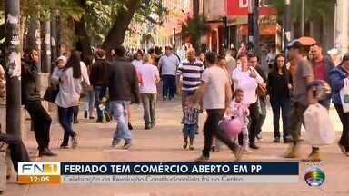 Comércio de Presidente Prudente mantém atendimento neste feriado - Dia da Revolução Constitucionalista é celebrado no Estado de São Paulo.