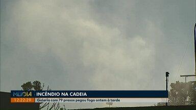 Curto-circuito causa incêndio na cadeia pública Hildebrando de Souza - Uma ala da cadeia em Ponta Grossa foi destruída pelo fogo na tarde dessa segunda-feira (8).