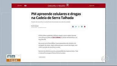 PM apreende celulares e drogas na Cadeia de Serra Talhada - Porções de maconha e cocaína foram encontradas nas celas da unidade.