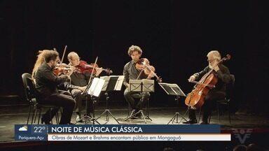 Mongaguá, SP, recebe concerto com músicas clássicas - Obras de Mozart e Brahms, no Concerto Petrobras Tribuna, encantaram o público.