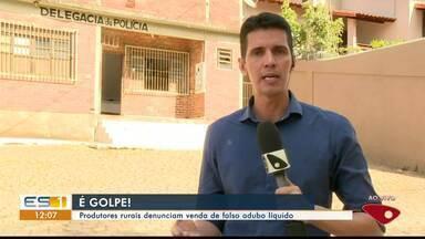 Produtores rurais de Atílio Vivácqua, ES, denunciam venda de falso adubo líquido - Golpistas estão vendendo o produto na região.