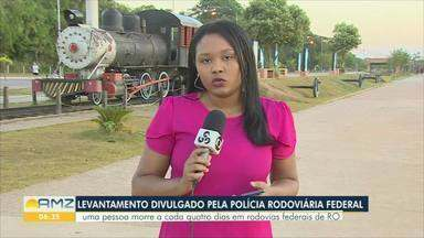 Uma pessoa morreu a cada quatro dias em rodovias federais de Rondônia - Levantamento da PRF foi feito com dados dos primeiros seis meses de 2019