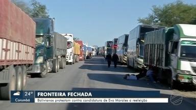 Fronteira entre Brasil e Bolívia amanhece bloqueada - Manifestantes são contra uma nova candidatura de Evo Morales.