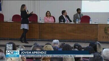 Audiência pública em Uberlândia discute cumprimento da lei do Jovem Aprendiz - Reunião também debateu a inclusão desses jovens no mercado de trabalho. O descumprimento da lei pode levar o Ministério Público do Trabalho a entrar com ações na Justiça.