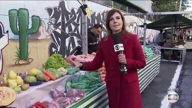 Baixas temperaturas afetam preços e qualidade de frutas, verduras e hortaliças - Feirantes dizem que o preço aumenta em média 30% no inverno e que a geada piorou a situação.