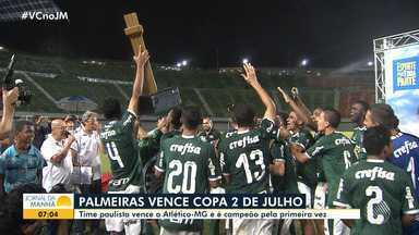 Pela primeira vez, Palmeiras vence a Copa Dois de Julho - Com gol de Wendell, time paulista ganhou do Atlético-MG por 1 a 0, no Estádio Pituaçu.