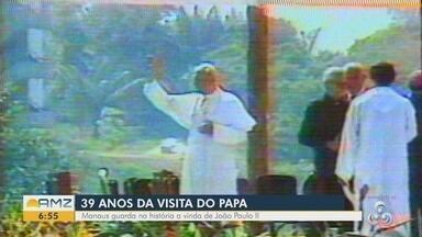Fiéis relembram com carinho da visita do Papa João Paulo II, em Manaus - Capital foi visitada no dia 10 de julho de 1980.