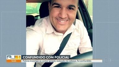 Polícia investiga se cantor gospel baleado na cabeça foi confundido com policial - O cantor gospel Elyon Nascimento foi atingido na cabeça e o estado de saúde dele é grave. O autor do disparo já foi identificado pela polícia.