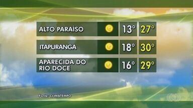 Confira a previsão do tempo para Goiás - Umidade do ar segue baixa e há risco de queimadas.