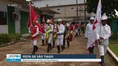 Rede Amazônica recebe cortejo religioso da festa de São Tiago - Rede Amazônica recebe cortejo religioso da festa de São Tiago.
