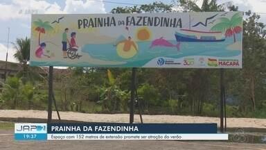 Prainha da Fazendinha faz sucesso durante Macapá Verão 2019 - Espaço tem 152 metros de extensão.