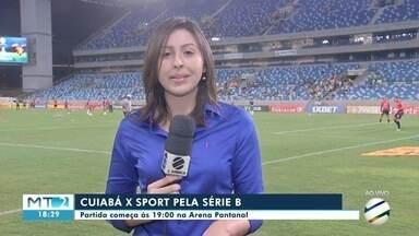 Cuiabá enfrenta o Sport pela série B do Brasileirão. - Cuiabá enfrenta o Sport pela série B do Brasileirão.