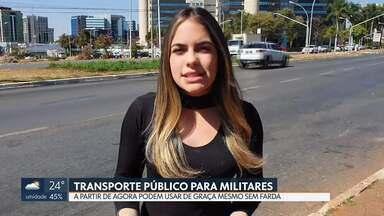 Bombeiros e policiais militares podem usar transporte público de graça sem farda - A Lei aprovada em abril foi publicada no Diário Oficial do DF.
